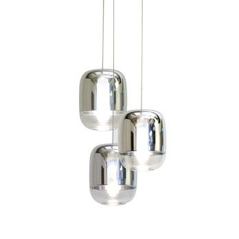 - Gong Mini 3R Pendelleuchte - verspiegelt/metallisiert/Ø 18cm