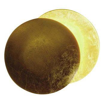 Catellani & Smith - Lederam W 25 Wandleuchte - gold/Wandhalterung weiß/Lichtfarbe warm weiß/ø25cm/extern dimmbar