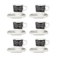 Marimekko - Oiva/Siirtolapuutarha Espresso Cup Set of 6
