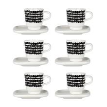 Marimekko - Oiva/Siirtolapuutarha Espressotasse 6er Set