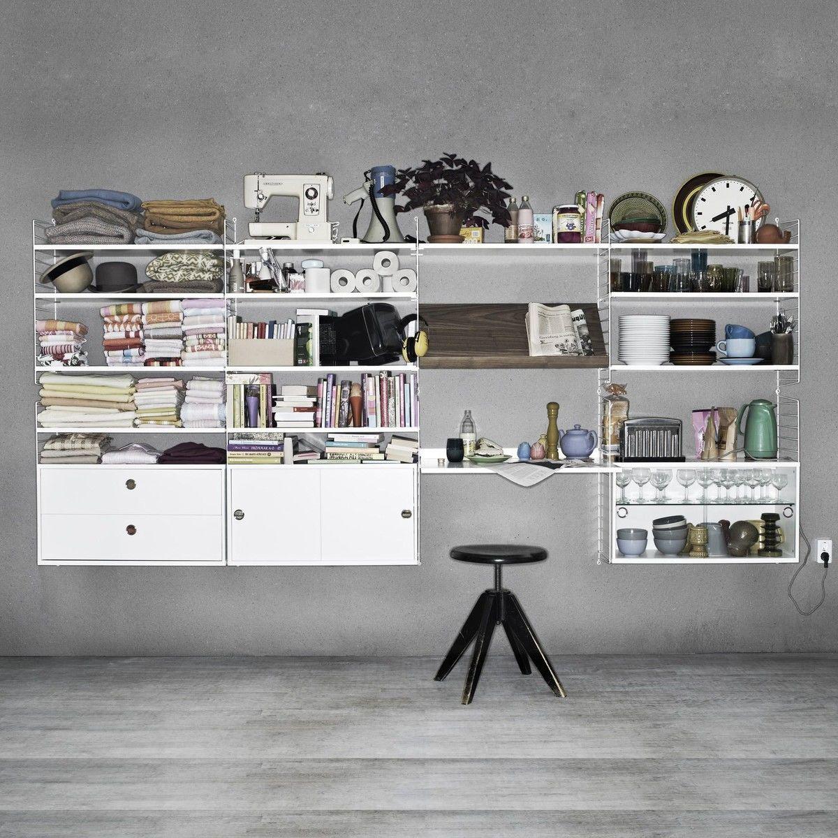 string office wall string. Black Bedroom Furniture Sets. Home Design Ideas
