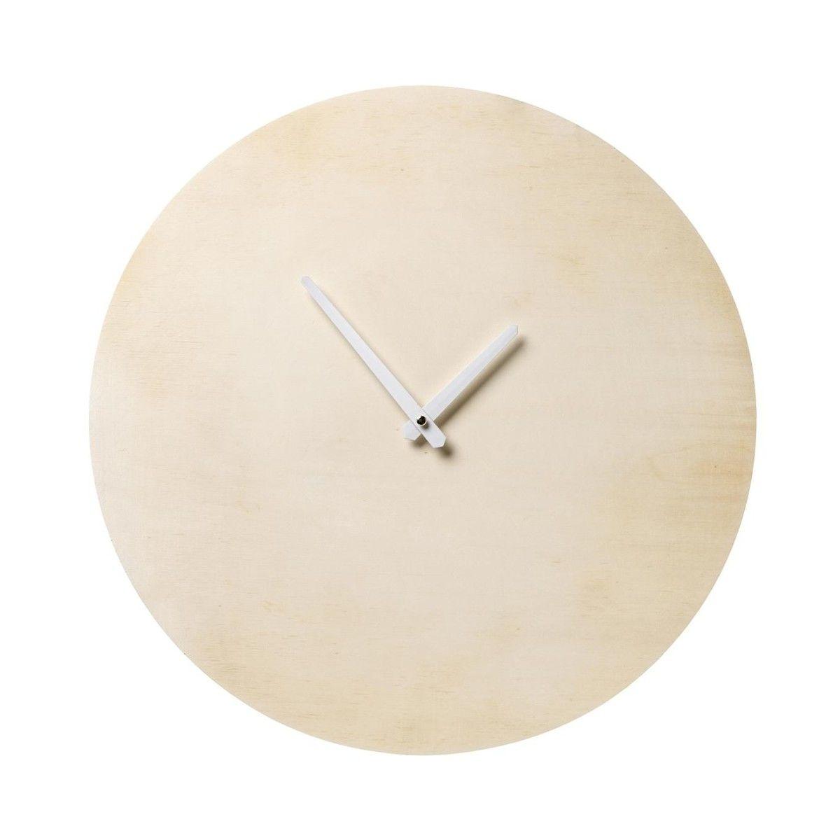 Paulownia wall clock 25cm bloomingville ambientedirect bloomingville paulownia wall clock 25cm natural amipublicfo Images