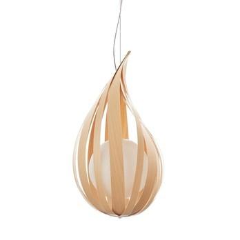 LZF Lamps - Raindrop SP Pendelleuchte - buche/matt/Ø 18cm/H 30cm/ohne Dimmer