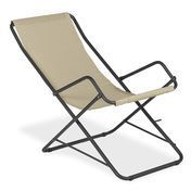 emu - Bahama Deckchair - beige/frame antique iron