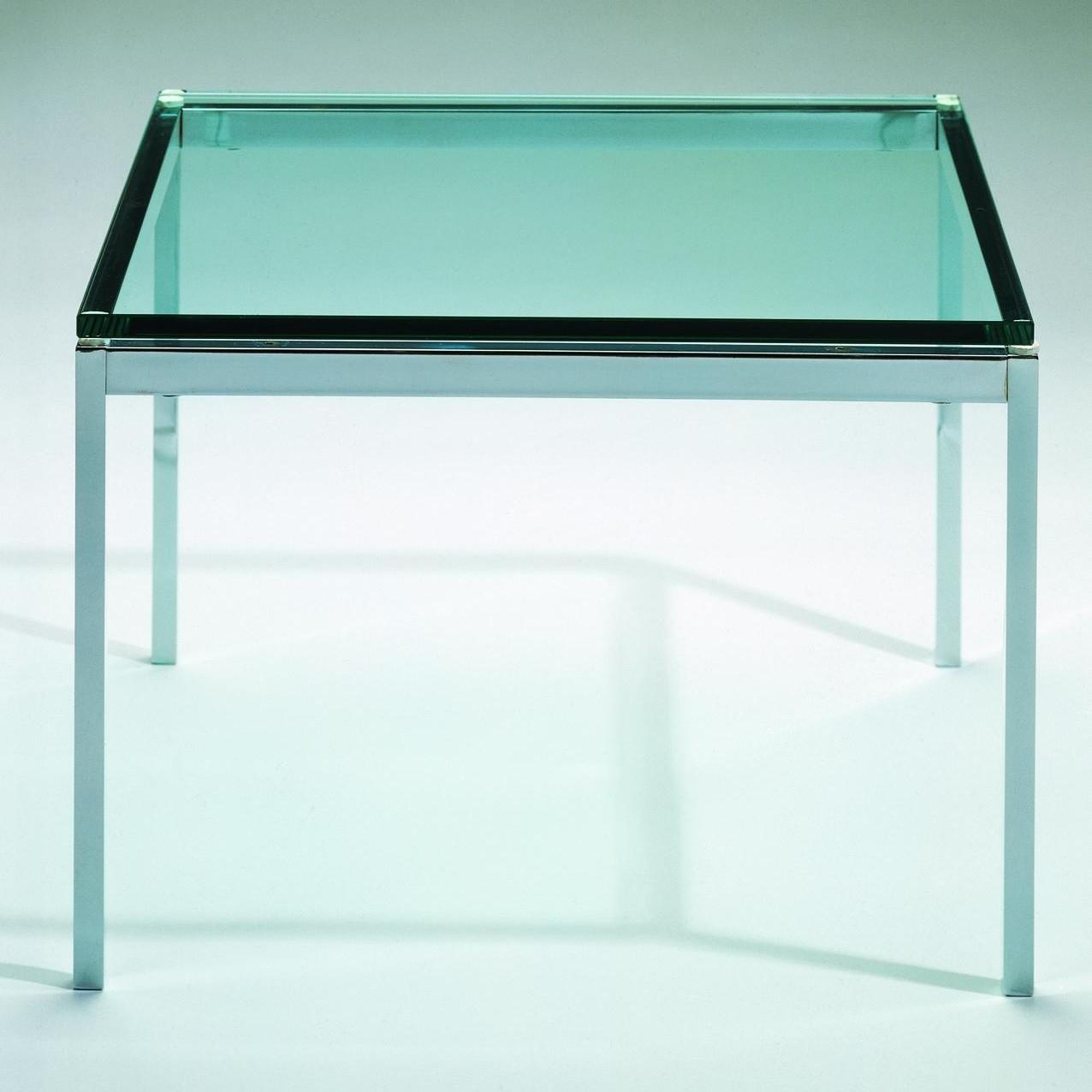 - Knoll International Florence Knoll Coffee Table Crystal Glass
