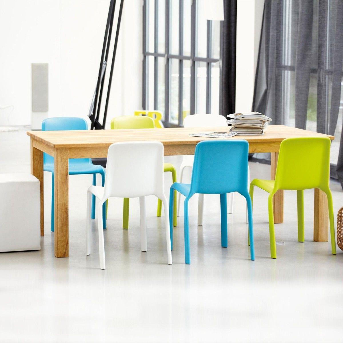 Casa table de salle manger bois massif jan kurtz for Table salle manger bois massif