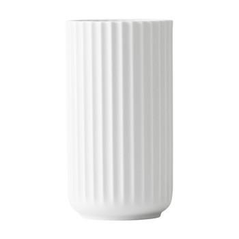 Lyngby Porcelæn - Lyngby Porzellan Vase H25cm - matt weiß/handgemachtes Porzellan/Ø14cm