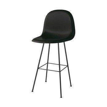 Gubi - Gubi 3D Counter Chair Barhocker - mitternachtsschwarz/Sitzfläche HiRek Kunststoff/BxHxT 52x102x53,5cm/Gestell schwarz