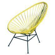 OK Design - Acapulco Mini Chair Armlehnstuhl - gelb/Gestell schwarz