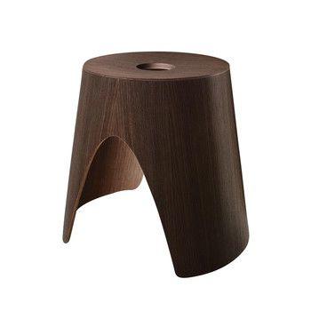 la palma - Log Sitzhocker - eiche dunkel nussbaum gebeizt/Multiplex