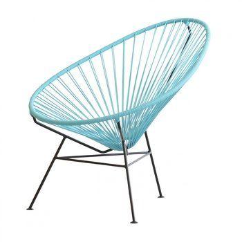 OK Design - Acapulco Chair Armlehnstuhl - hellblau/Gestell schwarz