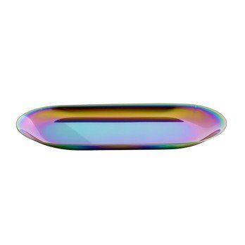 HAY - HAY Tray Tablett S - regenbogenfarben/18x8.5cm