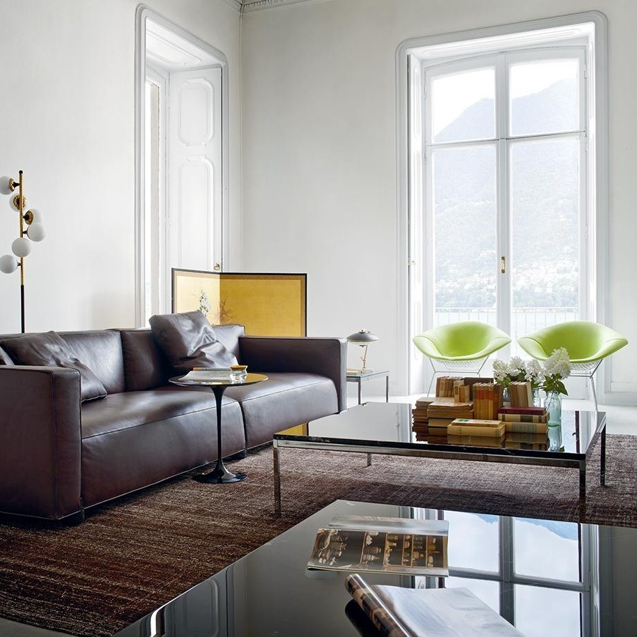 - Knoll International Florence Knoll Coffee Table Crystal Glass