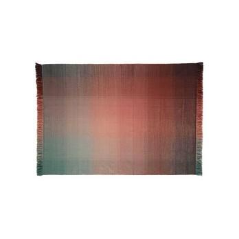 Nanimarquina - Shade Palette 1 Wollteppich - mehrfarbig/grün/dunkelrot/Kilim: 100% neuseeländische Wolle/170x240cm/Dichte: 75.000 Knoten/m2/H 0.6cm/Gewicht:1.5 kg/m2