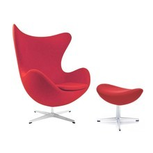 Fritz Hansen - Aktion Egg Chair/Das Ei Sessel + Hocker Stoff