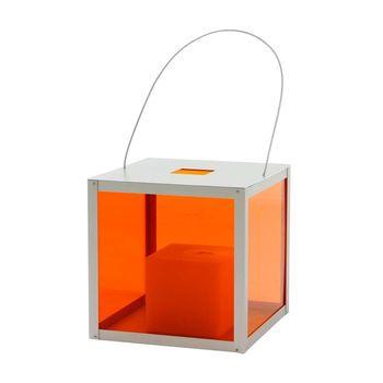 Gandia Blasco - Farol Laterne - orange/Rahmen aluminium/Aluminium/Größe 2/30cm
