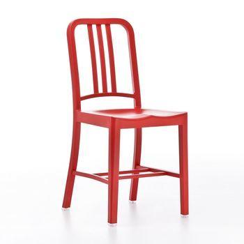 EMECO - Coca Cola 111 Navy Stuhl - rot/für Innen- und Außenbereich/H x B x T: 86 x 39 x 50cm