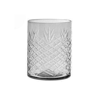 Bloomingville - Votive Glasbecher  - grau/H 11cm/ Ø 9cm