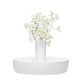 Conmoto - Capula Vase Ø32cm - weiß/glänzend