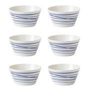Royal Doulton - Set de 6 bols de céréales Pacific Lines Ø15cm