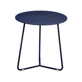 Fermob - Cocotte Niedriger Hocker/Beistelltisch H 36cm - abysseblau/lackiert/H 36 cm/Ø 34,5cm
