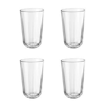 Eva Solo - Eva Solo Facetten Gläser 4er Set - transparent/4 Stück / 43cl/bis 130°C hitzebeständig