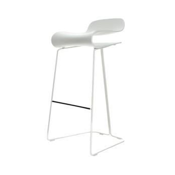 Kristalia - BCN Hocker - weiß/Stahl weiß lackiert/Sitzhöhe: 76cm