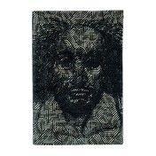 Nanimarquina - Shakespeare in Africa Wollteppich - schwarz/weiß/100% Schurwolle/300x400cm/Dichte:132.000 Knoten/m2 / Gewicht: 4,5kg/m2