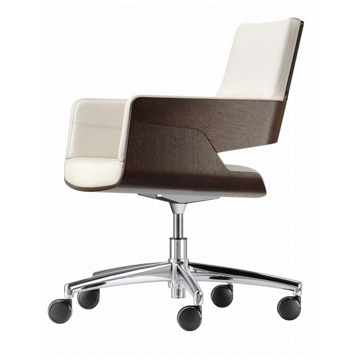 Thonet s 845 drw chaise de bureau rouleaux thonet for Bureau rouleau