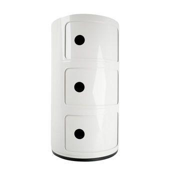 Kartell - Componibili 3 Container - weiß/glänzend