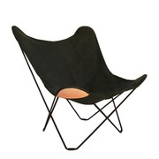 cuero - Canvas Mariposa Butterfly Chair-Fauteuil de jardin
