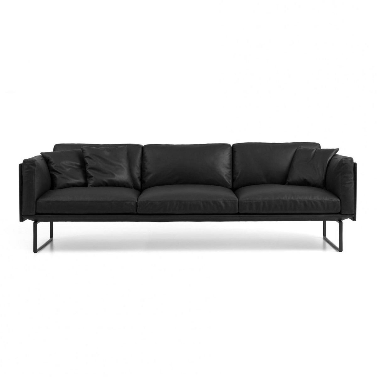 8 piero lissoni 3 seater leather sofa cassina