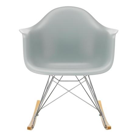 Eames Plastic Armchair RAR schommelstoel verchroomd