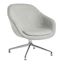 HAY - About a Lounge Chair AAL 81 Swivel Chair Polished Base