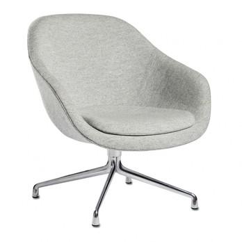 HAY - About a Lounge Chair AAL81 Sessel - hellgrau/Stoff Hallingdal 116/Gestell Aluminium/76x81x73cm