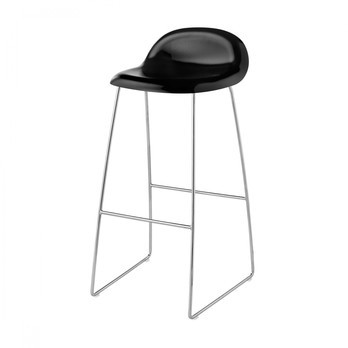 Magnificent Gubi 3D Bar Stool With Chrome Sledge Base Pdpeps Interior Chair Design Pdpepsorg