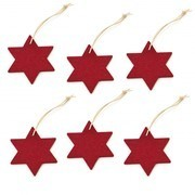 Hey-Sign - Christmas Ornament Star 6 pieces