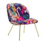Gubi - Beetle Lounge Chair Fabric Brass Base