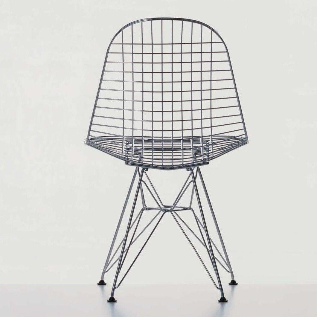 Eames wire chair dimensions - Vitra Eames Wire Chair Dkr 42cm Chrome Steel Eiffel Tower Frame