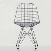 Vitra - Eames Wire Chair DKR Stuhl - verchromt/Stahl/Eiffelturmgestell/mit Filzgleitern