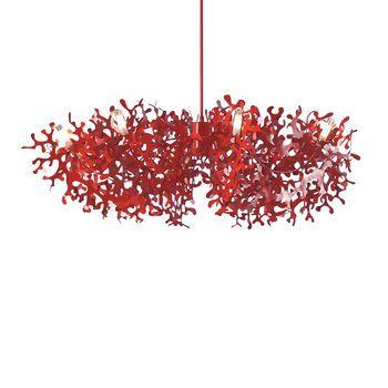 Lumen Center Italia - Supercoral 8L Pendelleuchte - rot/lackiert/H46cm/B140cm/2800K/5920lm