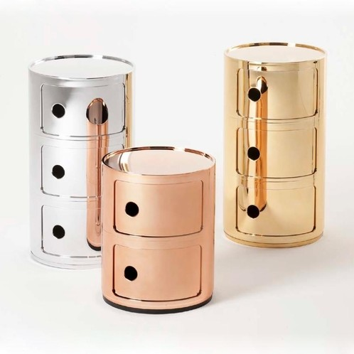Kartell - Componibili 2 Metallic Container