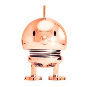 Hoptimist - Hoptimist Baby Bumble Wackelfigur - kupfer/glänzend/H6,5cm/Ø5,0cm/mit Federmechanismus