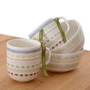 iittala - Sarjaton Gift Set No. 3 - white/Tikki pattern/2 mugs/2 small bowls