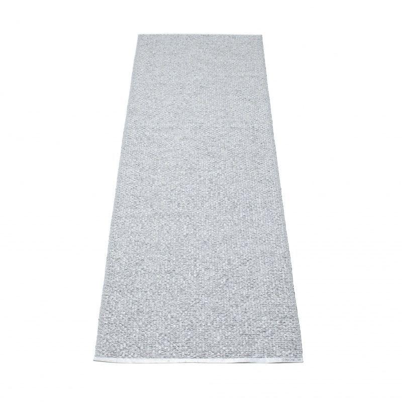 Pappelina   Svea Plastic Rug 70x240 Cm   Grey Metallic/grey