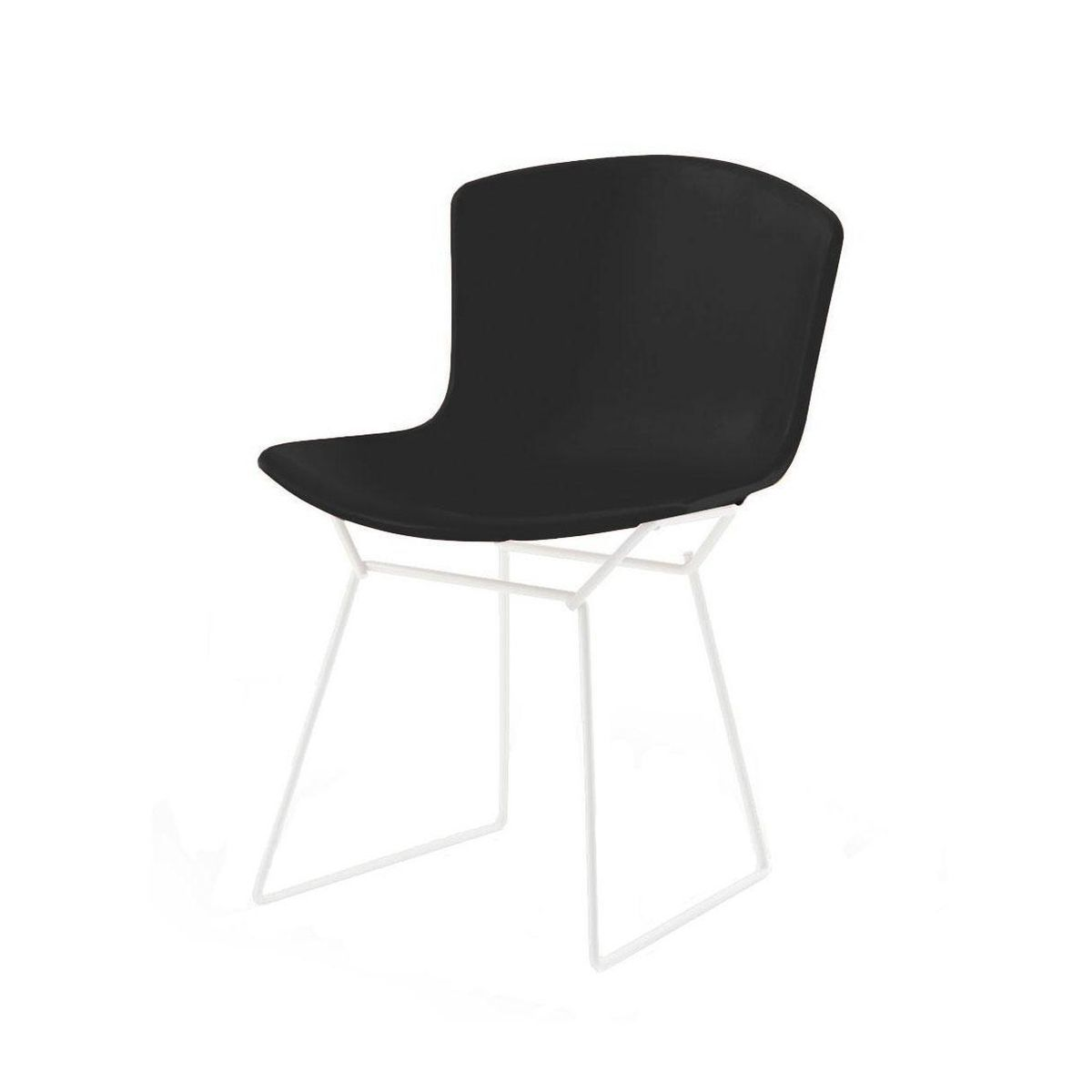 bertoia plastic side chair chaise blanc knoll. Black Bedroom Furniture Sets. Home Design Ideas