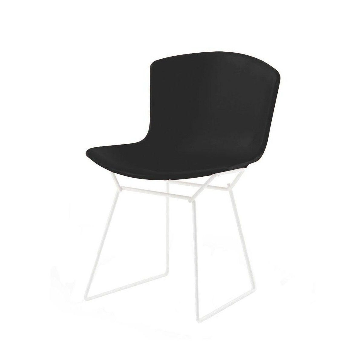 bertoia plastic side chair chaise blanc knoll international. Black Bedroom Furniture Sets. Home Design Ideas