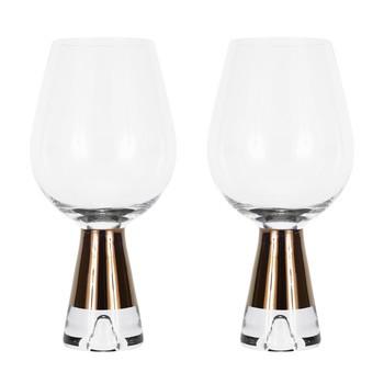 Tom Dixon - Tank Weinglas 2er Set - kupfer/transparent/mundgeblasen/H 18.6cm/Ø 9cm