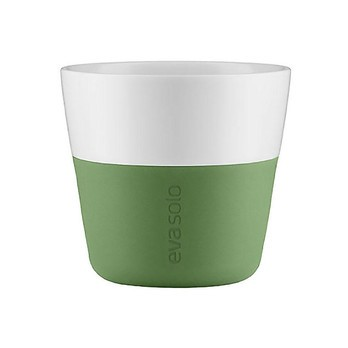 Eva Solo - Eva Solo Colour Grip Kaffeebecher - botanisch grün/2 Stück/230ml/LxBxH 8.5x8.5x8cm