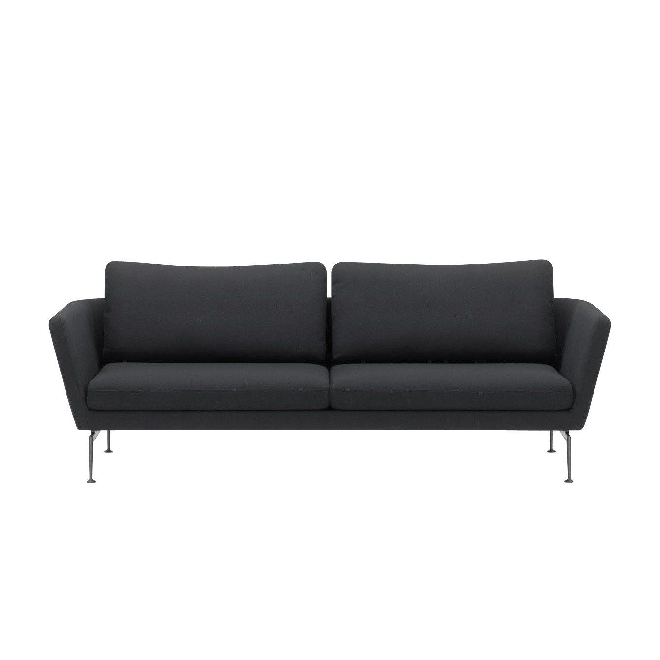 Vitra Suita Citterio 3 Seater Sofa Black Frame Aluminium Fabric Laser